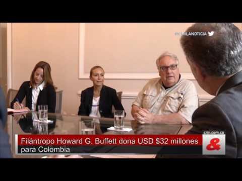 Filántropo Howard G  Buffett dona USD $32 millones para Colombia