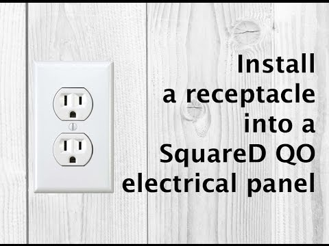 How to install an electrical outlet / plug into a Square D QO electrical panel