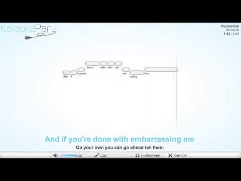 Shontelle - Impossible - karaoke
