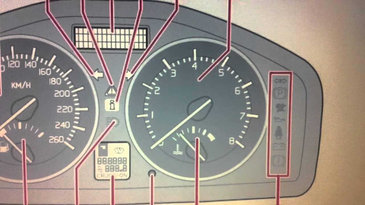 Volvo C30 Dashboard Warning Lights & Symbols - Diagnostic Code Readers & Scan Tools - YouTube