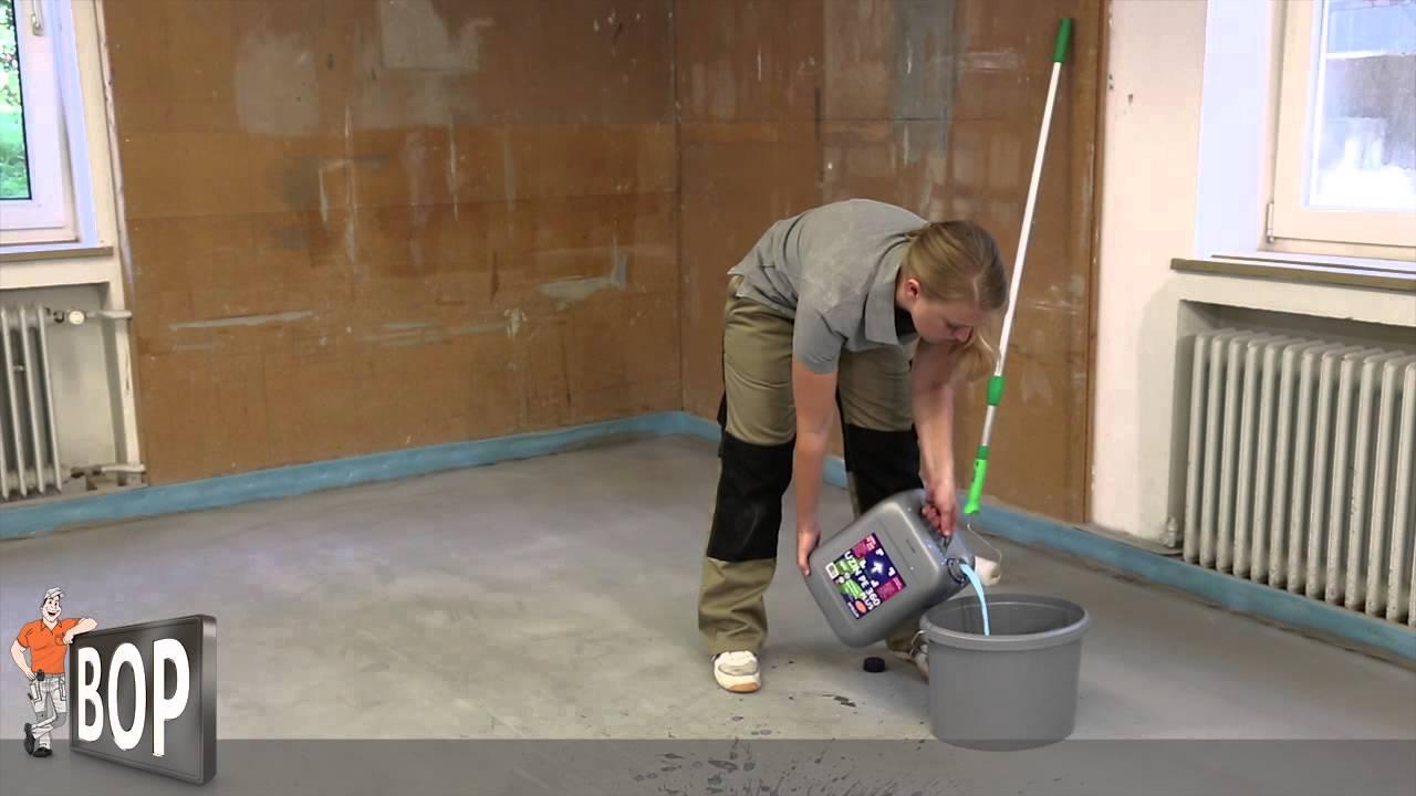 Fußboden Grundieren Fliesen ~ Estrich grundieren so geht s youtube