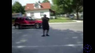 Dancing Fat Man Gets Hit By Ice Cream Truck