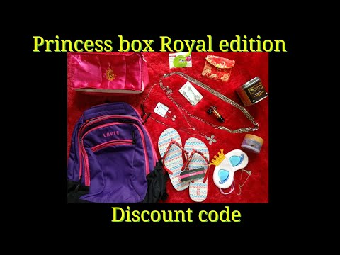 Princess box Royal edition Nov 2017 - Travel Edition -Discount Code - Lavie - Makeup Rev - Revlon - - 동영상