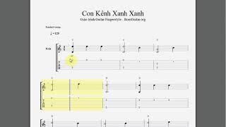 Thực hành Solo Fingerstyle guitar cơ bản Bài 1 - Con Kênh Xanh Xanh Solo Fingerstyle guitar đơn giản