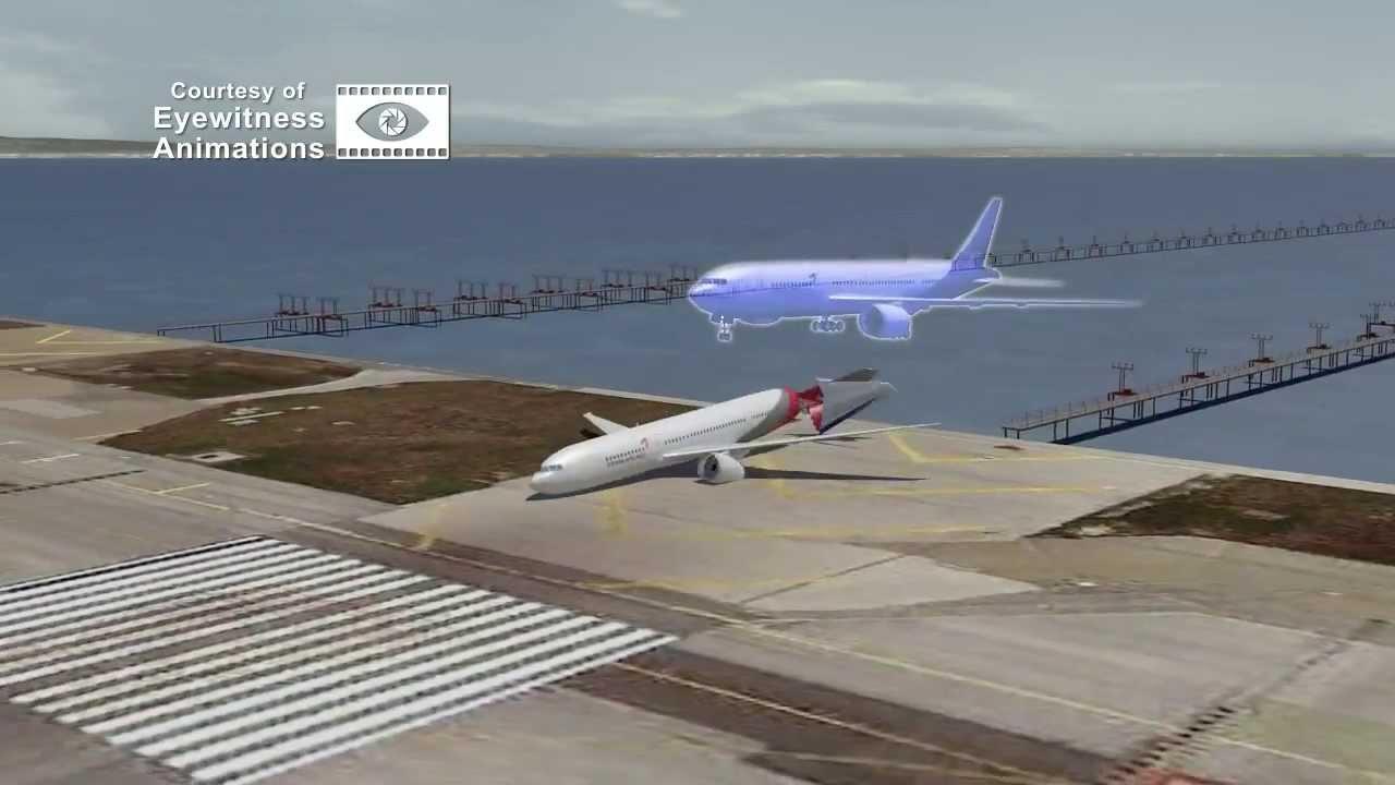 Asiana 214 Boeing 777 Crash Full Animation Air Traffic