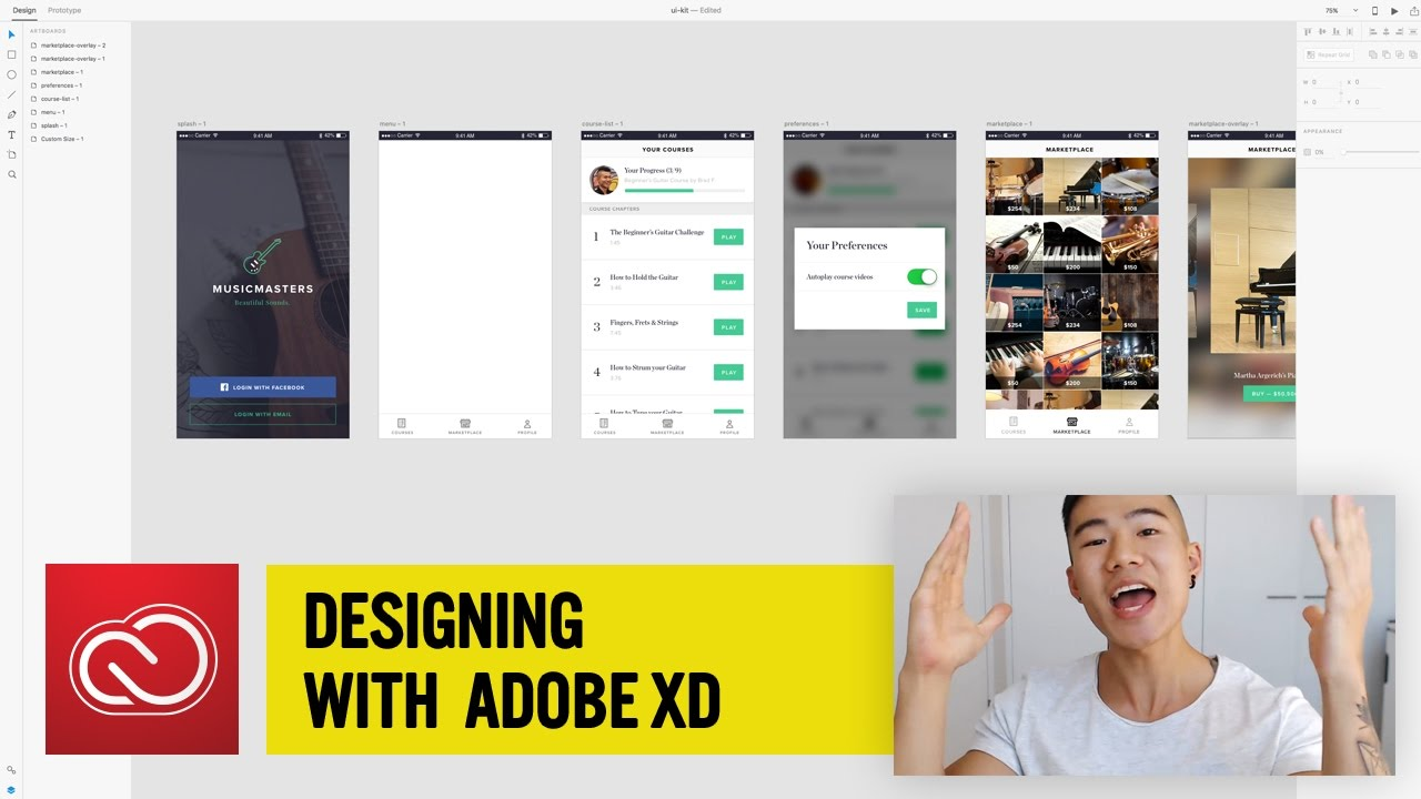 Michael Wong Designing with Adobe XD: Set & Save A Color ...