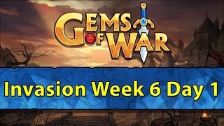 ⚔️ Gems of War Invasions | Week 6 Day 1 | Centaur Week Explosions ⚔️