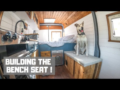 Building the bench seat in our diy campervan conversion... slowly going insane!