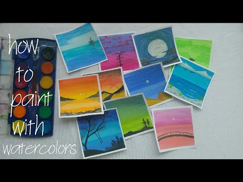 watercolor painting for beginners? easy landscape by suzan.