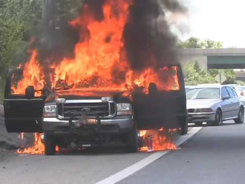 Pickup catches fire on U.S. 340 - YouTube