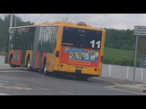 Stansted Airport bendy buses — Park & Ride