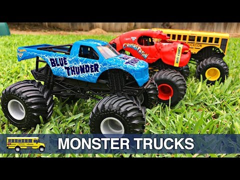 Monster Trucks for Kids - Hot Wheels Monster Jam Monster Truck Stunt Show for Children & Toddlers