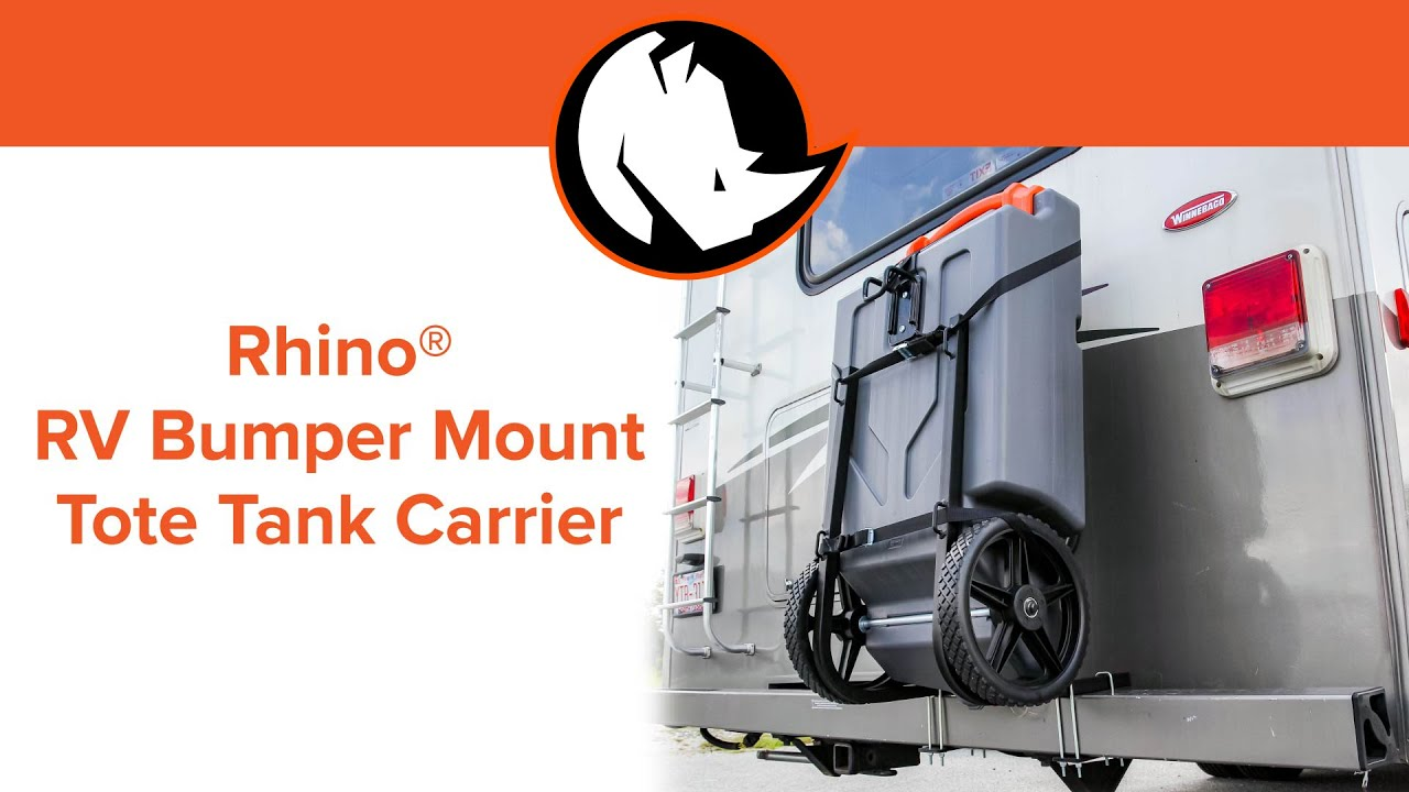 Rhino Rv Bumper Mount Tote Tank Carrier Youtube