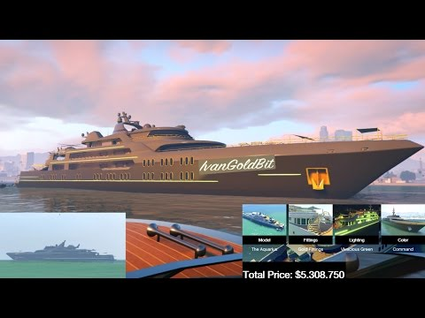 GTA 5 Online Most Expensive Yacht Aquarius