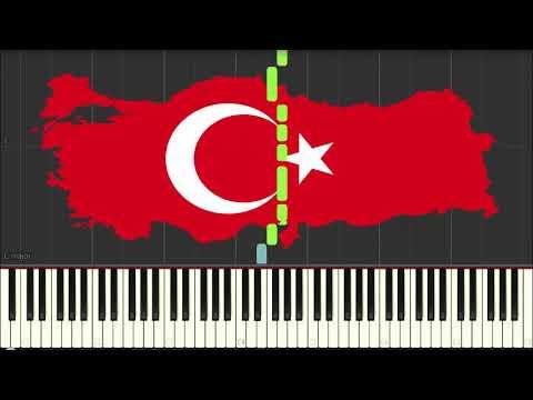 ölürüm Türkiyem Piano Cover Synthesia I'm Dead Turkey