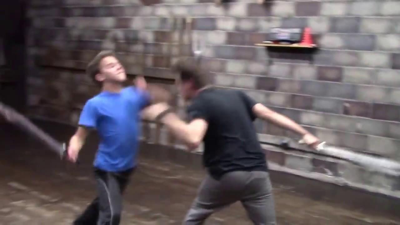 Conner Stevens Stage Combat Short Sword Certification Fight Youtube