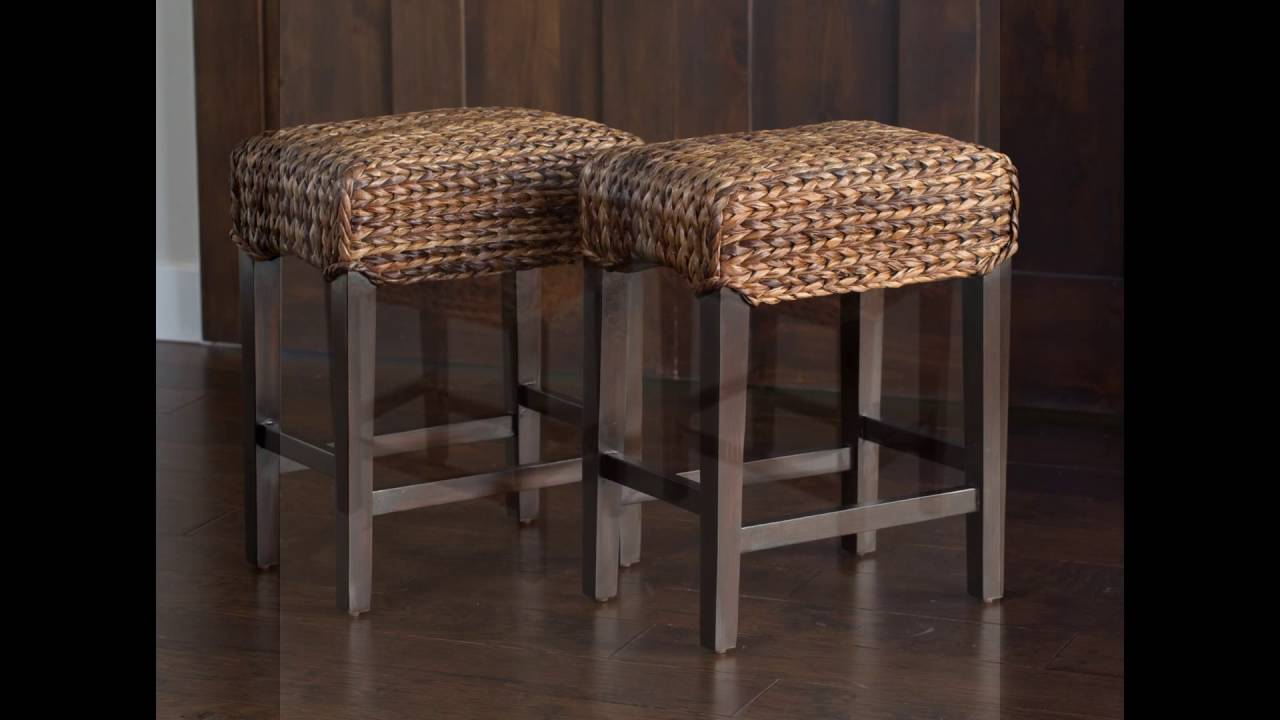 Superbe Seagrass Counter Height Stools