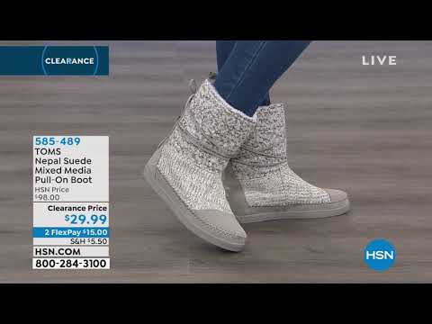 fda9020f044 TOMS Nepal Suede Mixed Media PullOn Boot - YouTube