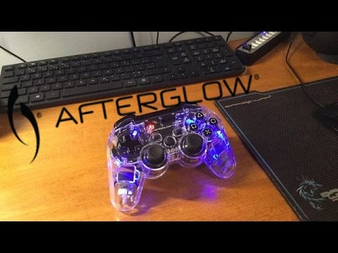 how to connect a wireless afterglow ps3 controller to a pc