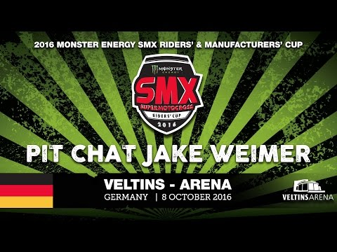 Jake Weimer Pit-Chat Monster Energy SMX Riders' Cup VELTINS-Arena Germany 2016