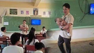 Karena Iba, Seorang Guru Menjaga Bayi Siswinya saat Sang Murid Ujian