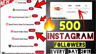 1 click 500 instagram followers 2019