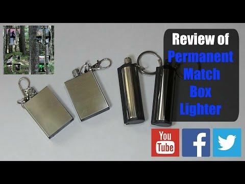 Permanent Metal Match Box Lighter Review