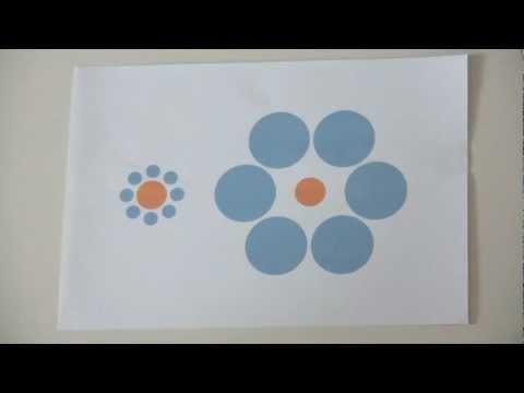 Whitch dot is bigger? Optical Illusion Amazing Ebbinghaus
