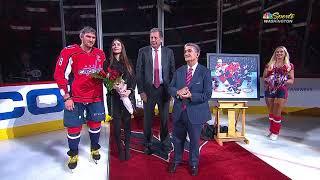 Овечкину устроили торжественную церемонию в честь 600-го гола в НХЛ