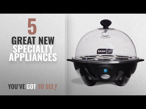 Top 10 Dash Specialty Appliances [2018]: Dash Rapid Egg Cooker, Black