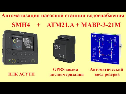 АСУТП насосной станции + АВР + Диспетчеризация