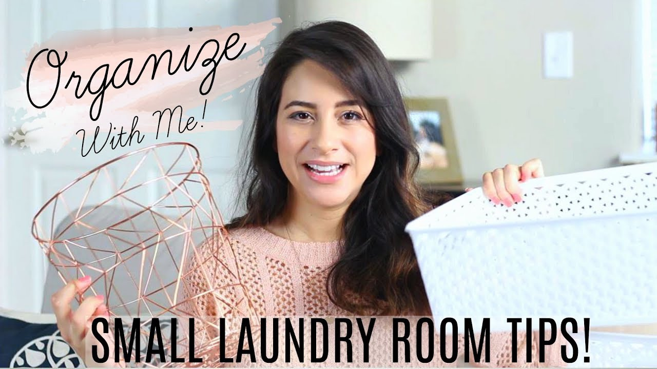 Small Laundry Room/Linen Closet Organization Tips! Organize with me! | Justine Marie
