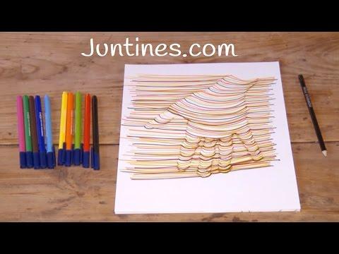 Cómo hacer un dibujo en 3D con papel y lápiz