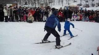 2011レルヒ祭 加藤清史郎くん レルヒさんとスキー.