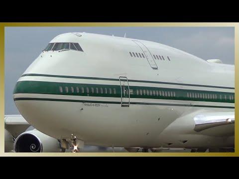 ✈️ Prince Al-Waleed Luxury Boeing 747 departing Hamburg Airport