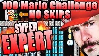 Super Mario Maker [100 MARIO CHALLENGE SUPER EXPERT NO SKIPS] ~ COMPLETE