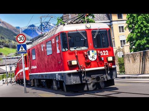 TSW 2: Mit dem ZUG durch die STADT: Arosa Line - von Chur nach Arosa   Train Sim World 2