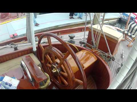 "1903 Antique Sailboat ""Witchcraft"" 66 feet of Antique Working Wooden Yacht by ABKVideo"