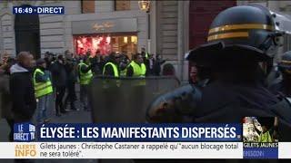 Gilets jaunes : des manifestants dispersés près de l'Élysée