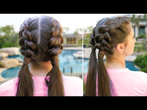 Kamri's DIY Double Dutch Wrap | Easy School Hair