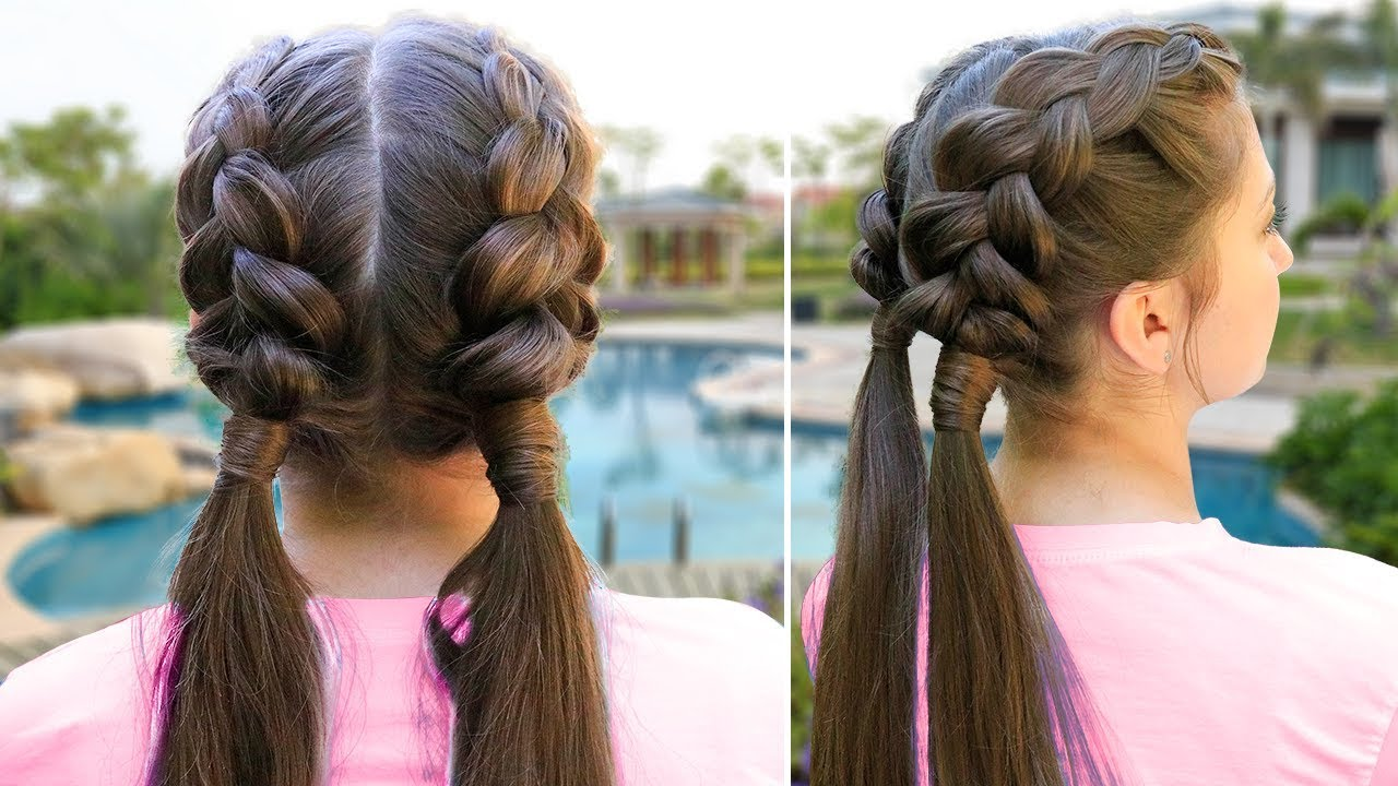 kamri's diy double dutch wrap   easy school hair