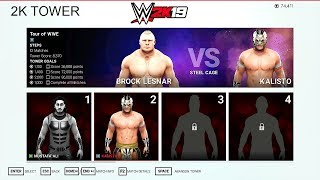 WWE 2K19 2K Tower Challenge - Brock Lesnar vs Kalisto - Tour of WWE
