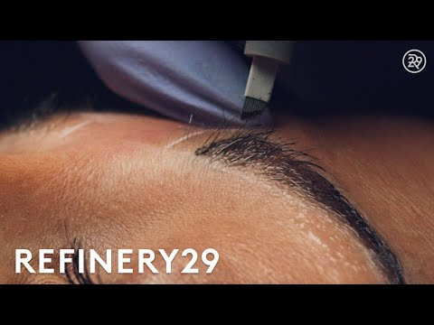 Download Youtube: Microblading Permanent Eyebrow Tattoo In Slo Mo | Macro Beauty | Refinery29