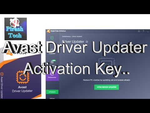 avast driver updater serial key 2018