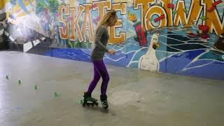 Обучение катанию на роликах с чемпионом России, урок 6