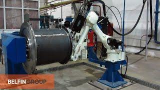 Сварка корпуса вентилятора роботом(Специалисты Белфингрупп, разработали и внедрили роботизированную технологию, предназначенную для автомат..., 2014-08-18T11:22:14.000Z)