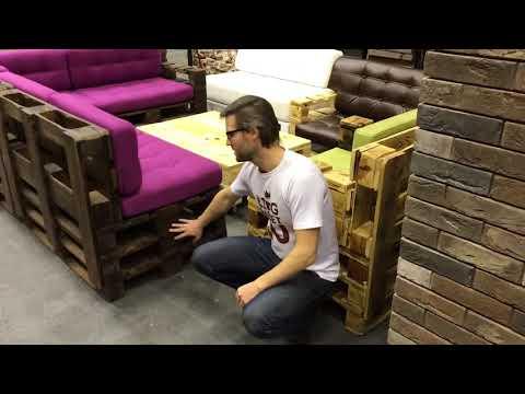 Мебель из поддонов в Москве. Шоу рум лофт интерьеров и мебель из паллет от KingPallet