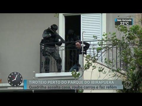 Assaltantes em fuga fazem refém próximo ao Parque do Ibirapuera | SBT Brasil (01/05/18)