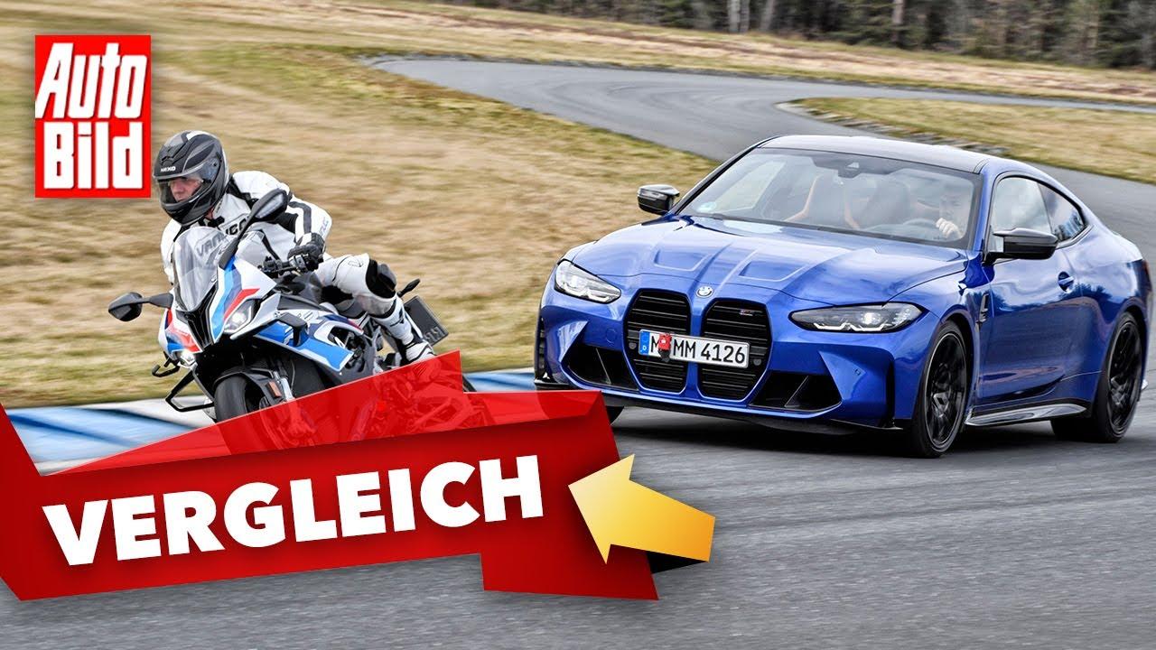 Download BMW M4 vs. M 1000 RR (2021) | Sportwagen trifft auf Super-Bike | Vergleich mit Jan Horn