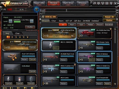 For Sale: Crossfire Account Rank 2 Star VIP 8 Lotto 5 Characters by Angelito R Luzon P2500